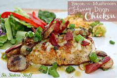 Bacon Mushroom Honey Dijon Chicken on MyRecipeMagic.com #baconmushroom #honeydijonchicken