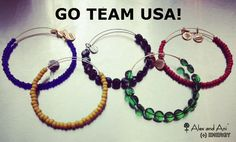 "Go Team USA! #Olympics #Pride #London2012  Alex and Ani ""Olympic Rings"" Bracelets"