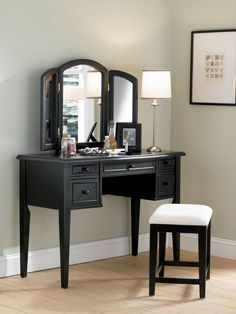 Vanity for master bedroom, more grown up & not so girly. I like