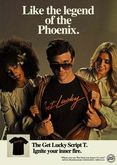 daft punk merch ad. Love the retro style. Looks like it came straight out of an early 80's magazine