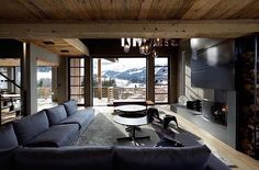 """3,832 mentions J'aime, 12 commentaires - Interiors & Decoration (@finedecoration) sur Instagram : """"Chalet Cyanella in Megève, France by Bo Design   More images @bookofcabins #fineinteriors…"""""""