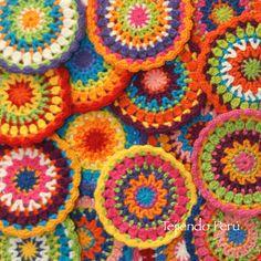 #Mandalas pequeñitas tejida a #crochet... video tutorial del paso a paso!