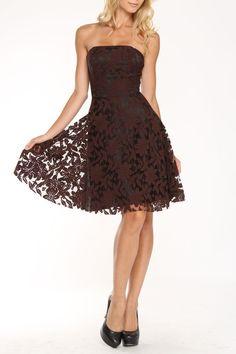 Julie Brown Sable Short Dress In Brown - Beyond the Rack