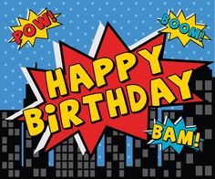Melanie Pennell Design for Happy Birthday Words, Happy Birthday Pictures, Best Birthday Wishes, Happy Birthday Messages, Happy Birthday Banners, Birthday Greetings, Batman Party Decorations, Superman Birthday Party, Festa Pj Masks