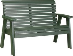 LuxCraft Poly 4'  Plain Garden Bench This plain garden bench offers a great seat outside. Made with recycled plastics transformed into poly lumber. Colorful, strong, durable and low maintenance. Just right for pool, patio, porch or lanai.