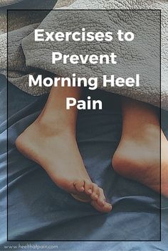 Do you get plantar fasciitis pain first thing in the morning? Click to learn 3 morning heel pain exercises and stretches.