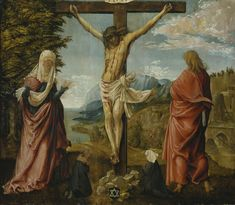 Christ on the Cross between Mary and St John by Albrecht Altdorfer