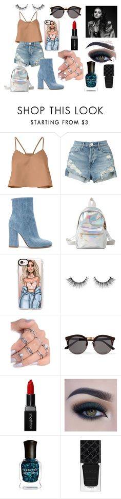 """""""concert"""" by mihaelamarula on Polyvore featuring TIBI, 3x1, Gianvito Rossi, Charlotte Russe, Casetify, Illesteva, Smashbox, Too Faced Cosmetics, Deborah Lippmann and Gucci"""