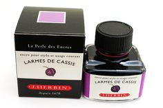 J. Herbin Fountain Pen Ink - 30 ml Bottle - Larmes de Cassis (Tears of Blackcurrant Purple) - J. HERBIN H130-78
