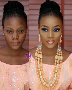 Make up Tutorial Black Girl Makeup, Girls Makeup, Contour Makeup, Flawless Makeup, Beauty Make-up, Beauty Hacks, Beauty Style, Bridal Makeup, Wedding Makeup