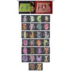 Heartsong Applique Alphabet SKU: DBJJ642 Design Set:  $20.00   $4.00 Instant Download! 4 sizes included!  4 inch: 4x4 hoop  5 inch: 5x7 hoop  6 inch: 6x10 hoop  7 inch: 8x8 or larger hoop Now includes BX format!