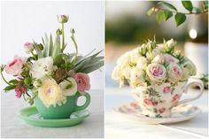 centros de flores artificiales hermosos
