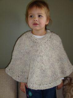 Toddler Poncho - free pattern