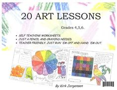 Great easy art lessons in workbook format. Just add colored pencils.