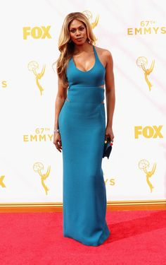 Actress Laverne Cox attends the 67th Annual Primetime Emmy Awards at Microsoft Theater on September 20, 2015 in Los Angeles, California.