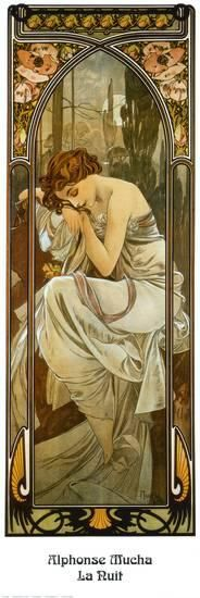 Night Prints by Alphonse Mucha at AllPosters.com