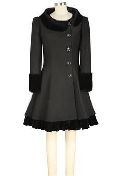 Retro Side button Peter-Pan Collar Coat --Chic Star design by Amber Middaugh