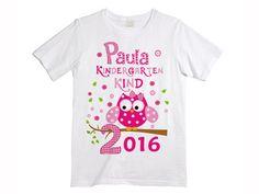 *T-Shirt-Kindergarten Kind*  Süßes T-Shirt zum ersten Kindergarten-Tag mit deinem Wunschnamen. (*_keine Doppelnamen oder max. 9 Zeichen*_).  _Bitte die Größe und den Wunschnamen bei der...
