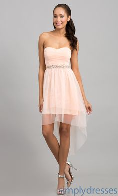 Strapless Ruby Rox Mullet Party Dress -Simply Dresses