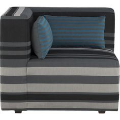 Crate & Barrel Savino Stripe Left Sectional Corner ($499) ❤ liked on Polyvore