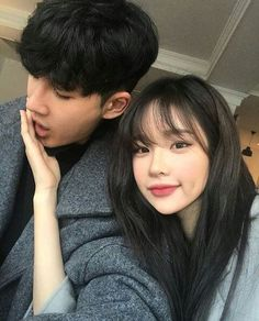 Two people are really together, at least do each other - Couple Ulzzang, Girl Couple, Ulzzang Korean Girl, Korean Couple, Couple Aesthetic, Couple Outfits, Cute Couples Goals, Cute Korean, Cute Relationships