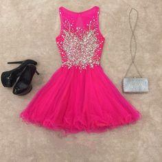 Homecoming Dresses,chic prom dresses,short prom gowns,pink homecoming dress,short