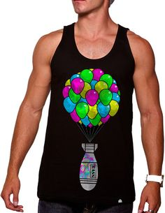 I Love Happy Hardcore Rave Music Funny Novelty Mens Vest Singlet Tank Top