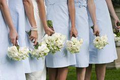Sky blue bridesmaids