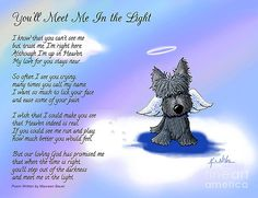 Scottie Terrier Angel and Poem by Kim Niles