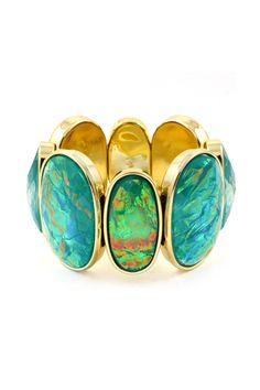 Teal Vitrail Etta Bracelet   Awesome Selection of Chic Fashion Jewelry   Emma Stine Limited