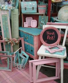 funky style furniture. Painted, Vintage, Distressed, Chippy, Salvaged, Flea Market Style, Furniture , Funky Style