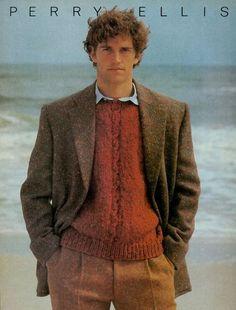 Brand: Perry Ellis  Year: Fall/Winter 1982  Model: Matt Norklun