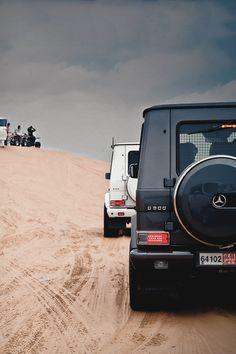 White & Black Mercedes G55 AMG