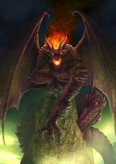 Outcast Odyssey - Dragon - Demon Dragon by allengeneta fire gargoyle wings monster beast creature animal | Create your own roleplaying game material w/ RPG Bard: www.rpgbard.com | Writing inspiration for Dungeons and Dragons DND D&D Pathfinder PFRPG Warhammer 40k Star Wars Shadowrun Call of Cthulhu Lord of the Rings LoTR + d20 fantasy science fiction scifi horror design | Not Trusty Sword art: click artwork for source
