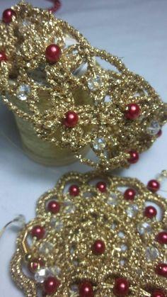 Bracciale e orecchini a crochet Francesca Bulfamante