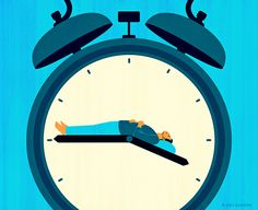 Joey Guidone - Insomnia. Sleeping, Alarm Clock, Night, Illustration, Conceptual, Editorial, Cover, Magazine