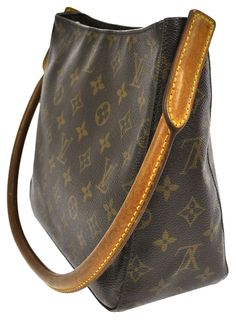 86e4a1a9232c Louis Vuitton Looping Mm Fl0022 Shoulder Brown Monogram Canvas and Leather  Tote