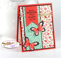 Watercolor Wings and Pretty Petals for Sketch & Stamp, card by Sandi @ www.stampinwithsandi.com