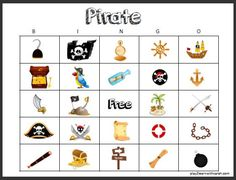 Pirate Activities - Play 2 Learn with Sarah Pirate Maps, Pirate Theme, Pirate Party, Pirate Activities, Classroom Activities, Toddler Activities, Travel Activities, Bingo For Kids, Kindergarten Learning