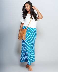 Striped Paneled Maxi Skirt Style #: 51714963 Was $24.90 Now $15.00 Online Exclusive @wetseal.com