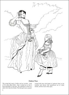 Fashions of the Old South Coloring Book | Additional Photo (Inside Page)