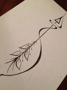 Best Geometric Tattoo - Arrow tattoo meaning: an arrow can only be shot forward by being pulled back. So...