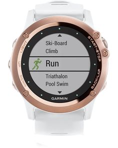 Perfect timing - From skiing to climbing, Garmin's new fénix rose gold multi-sport watch is a genius on your wrist (£469, garmin.com).