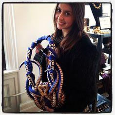 At the BONFAIRE Press preview with my IHDA award winning Swarovski handbag.