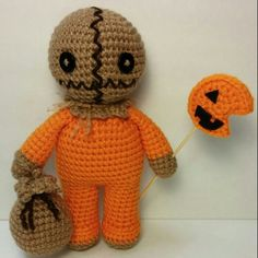 Amigurumi Sam from Trick R Treat I made for an art trade.