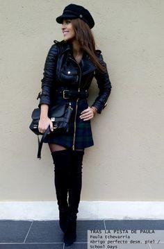 Paula Echevarría con abrigo perfecto de piel desmontable  - Highly Preppy