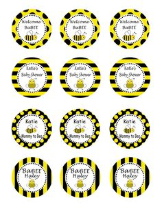 Bumble Bee Baby Shower Party DIY Printable Circles By Thatsawrap2 1000