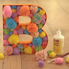 We love these pom Pom letters using our new fillable wooden letters. Find out…