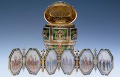 Imperial Napoleonic Egg, marking 100th anniversary of the Russian victory over Napoleon.  Given by Tsar Nicholass II to his mother.
