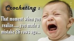 Baby Knitting Patterns Funny The moment when you realize…. Knitting Quotes, Knitting Humor, Crochet Humor, Funny Crochet, Sewing Quotes, Baby Knitting, Crochet Crafts, Crochet Yarn, Crochet Hooks